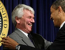 Greg Craig and Barack Obama in happier days