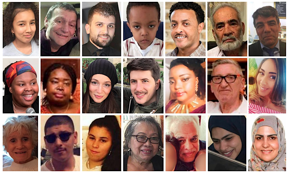 Photos of 21 of the victims of the Grenfell Tower fire on June 14, 2017, in which 71 people are acknowledged to have died - and a 72nd victim died of injuries sustained in January 2018.
