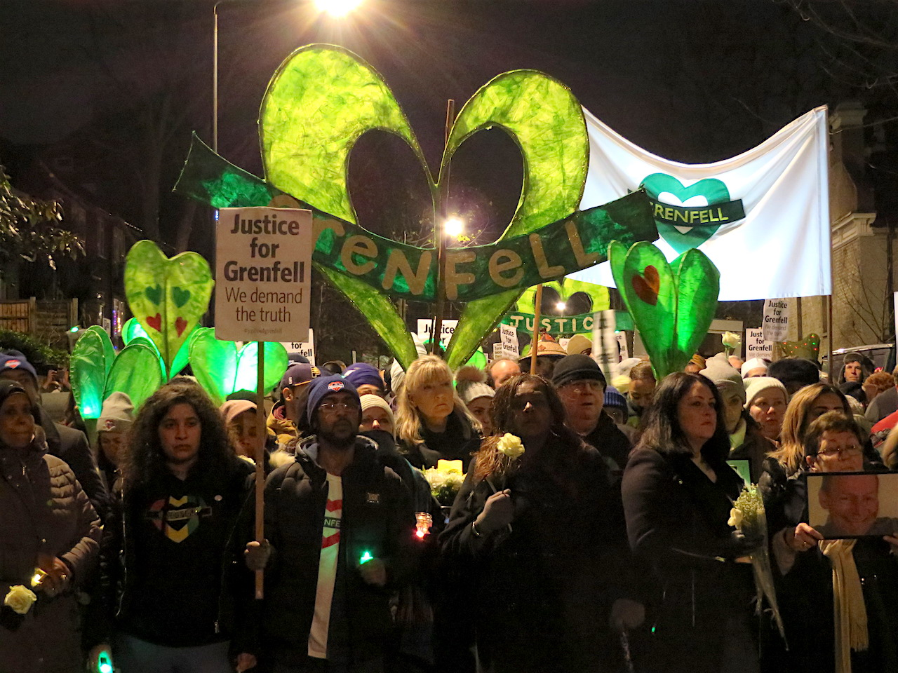 The Silent Walk for Grenfell, December 14, 2017 (Photo: Andy Worthington).