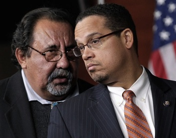 Reps. Raúl Grijalva (D-Ariz.) and Keith Ellison (D-Minn.), the co-chairs of the Congressional Progressive Caucus, who sent a letter to President Obama on October 30, 2014, asking to be allowed to see videotapes of force-feeding at Guantanamo.