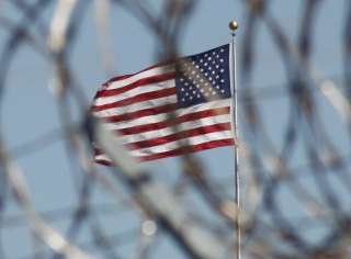 The US flag at Guantanamo (Photo: Ryan J. Reilly/Huffington Post).