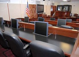 The courtroom at Guantanamo