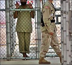 A prisoner at Guantanamo