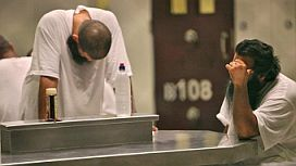 Prisoners in Camp 6, Guantanamo