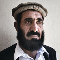 Former Guantanamo prisoner Haji Ghalib, photographed after his release from Guantanamo in February 2007.