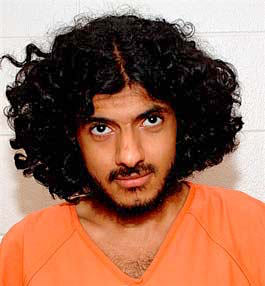 Yemeni prisoner Hassan bin Attash, in a photo taken at Guantanamo and included in the classified military files released by WikiLeaks in 2011 .