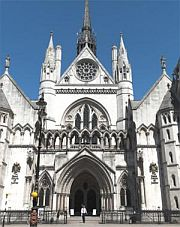 The Royal Courts of Justice, home of Britain's High Court