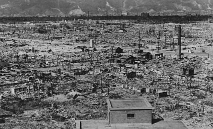 The aftermath of the atomic bombing of Hiroshima, autumn 1945