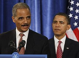 Eric Holder and Barack Obama