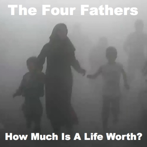 The cover of The Four Fathers' new album, 'How Much Is A Life Worth?'