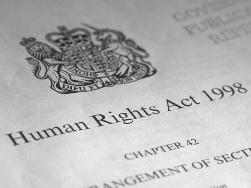 The Human Rights Act, passed in 1998, which the Tories, idiotically, want to repeal.