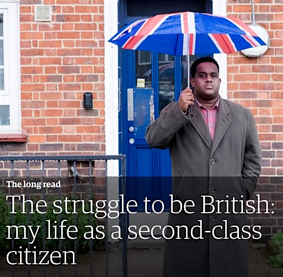 The journalist Ismail Einashe, in the header from his article about citizenship in the UK, firs published in the New Humanist magazine, and then in the Guardian.