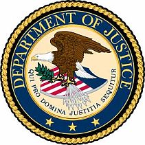 The seal of the US Justice Department