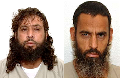 Omar Khalifa Mohammed Abu Bakr (aka Omar Mohammed Khalifh) and Salem Gherebi (aka Ghereby), Libyans resettled in Senegal in April 2016, who are now threatened with being sent back to Libya, which is not safe for them. The photos are from the classified military files released by WikiLeaks in 2011.