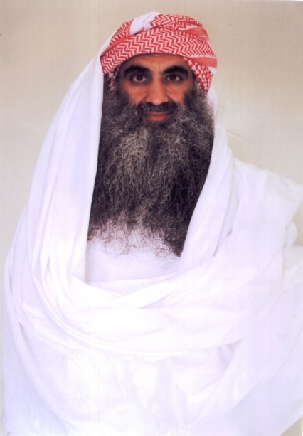 Khalid Sheikh Mohammed, photographed at Guantanamo in July