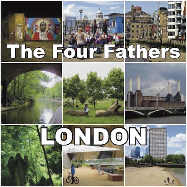 The cover of The Four Fathers' new single 'London', released on June 23, 2017.