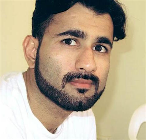 """High-value detainee"" Majid Khan, photographed at Guantanamo in 2009."