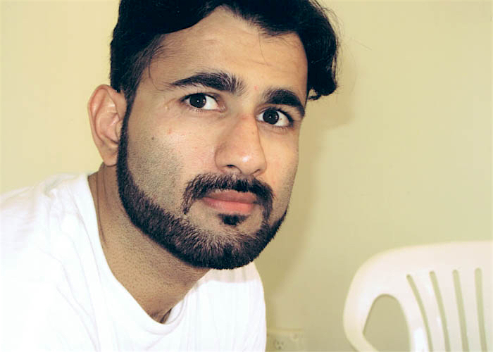 Guantanamo prisoner Majid-Khan, photographed at Guantanamo in 2009 by representatives of the International Committee of the Red Cross.