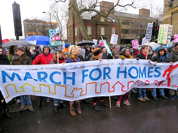 The 'March for Homes' in London on January 31, 2015 (Photo: Andy Worthington).