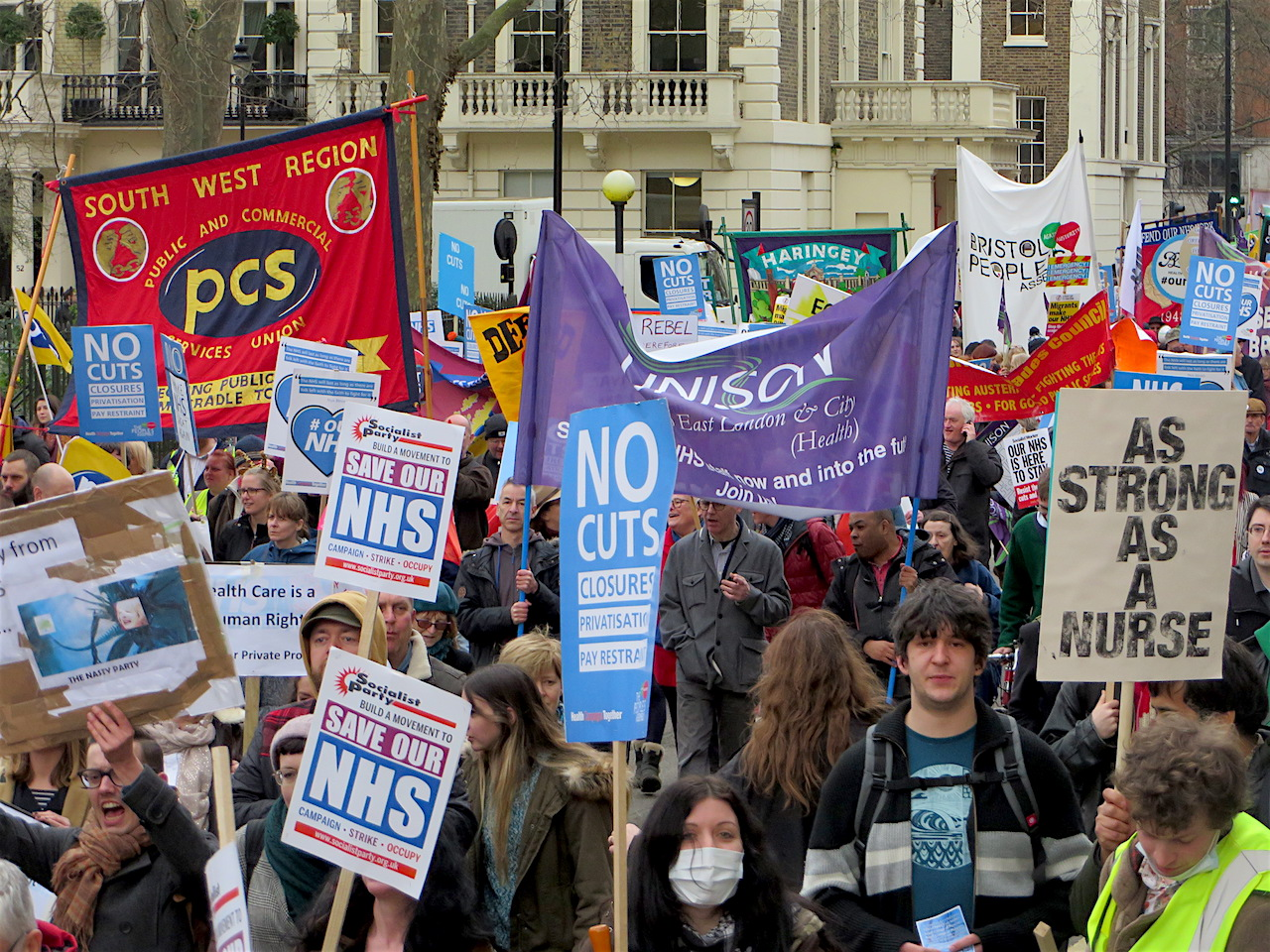 A photo from the march for the NHS on March 4, 2017 (Photo: Andy Worthington).