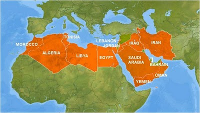Torture And Terrorism In The Middle East Its In America - Mid east usa map