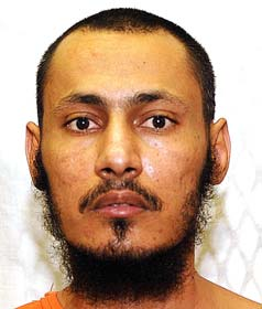 Mohammed Bawazir, in a photo from the classified military files relating to the Guantanamo prisoners, which were released by WikiLeaks in April 2011.