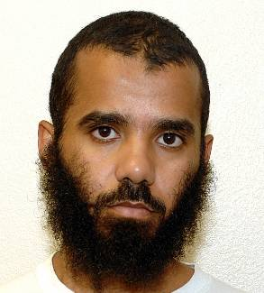Moath al-Alwi (aka Muaz or Moaz al-Alawi), in a photo included in the classified US military documents (the Detainee Assessment Briefs) released by WikiLeaks in April 2011.
