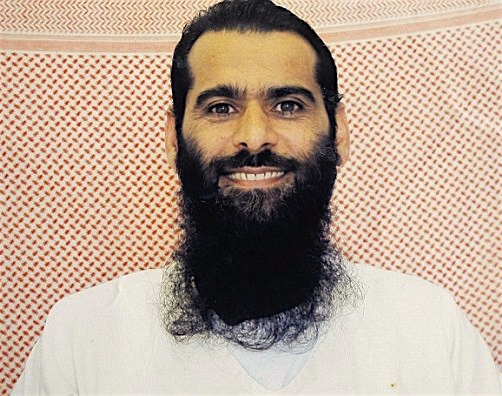 Afghan prisoner Muhammad Rahim, in a photo taken in Guantanamo by representatives of the International Committee of the Red Cross, and made available to his family, who made it publicly available via his lawyers.