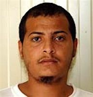 Yemeni prisoner Musa'ab al-Madhwani, in a photo from Guantanamo included in the classified military files released by WikiLeaks in 2011.