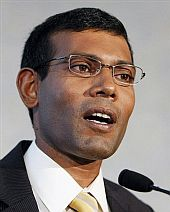 President Mohamed Nasheed of the Maldives