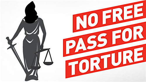 No free pass for torture: an image prepared by the ACLU.