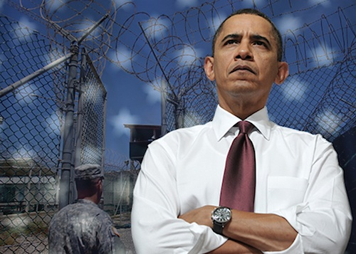 President Obama and Guantanamo: a photo collage from Slate, in June 2014.
