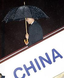 Barack Obama arrives in China, November 2009