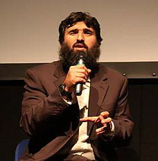 "Omar Deghayes, speaking at the launch of ""Outside the Law: Stories from Guantanamo,"" London, October 21, 2009"