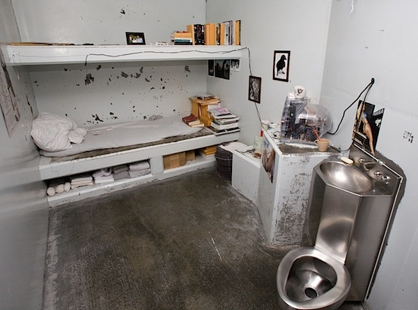 A tiny windowless cell in the Security Housing Unit (SHU) in Pelican Bay State Prison in California.