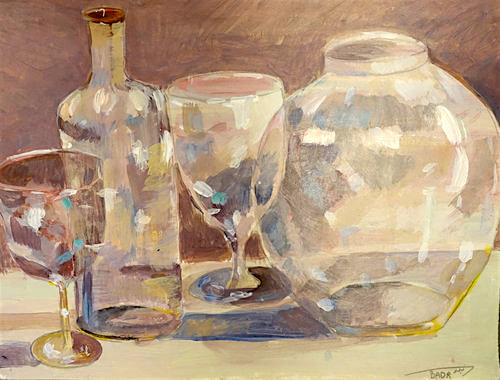 """Empty glassware"" (2015) by Guantanamo prisoner Ahmed Rabbani."