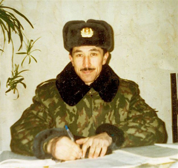 Russian prisoner Ravil Mingazov, an ethnic Tatar, photographed before his capture in Pakistan in March 2002 and his transfer to Guantanamo.