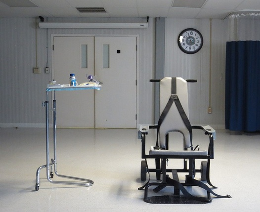 A restraint chair at Guantanamo, used to force-feed prisoners (Photo by Jason Leopold).