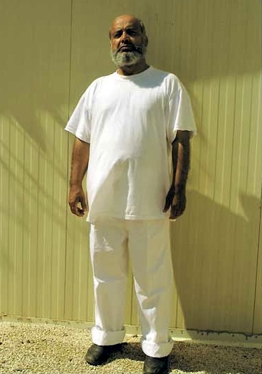 Guantanamo prisoner Saifullah Paracha, in a photo taken several years ago by representatives of the International Committee of the Red Cross. He is wearing white, clothing reserved for the most compliant prisoners.