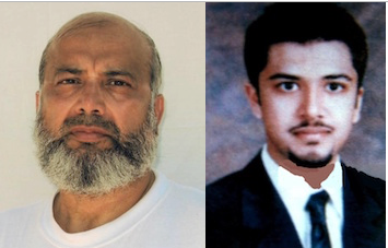 Saifullah and Uzair Paracha. Saifulllah was photographed a few years ago in Guantanamo; the photo of Uzair is from before his capture in 2003.
