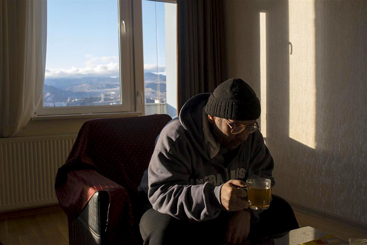 The first publicly available photo of Yemeni and former Guantanamo prisoner Salah al-Dhaby, at his home in Tbilisi, Georgia, where he was released in November 2014 (Photo: Alex Potter for Newsweek).