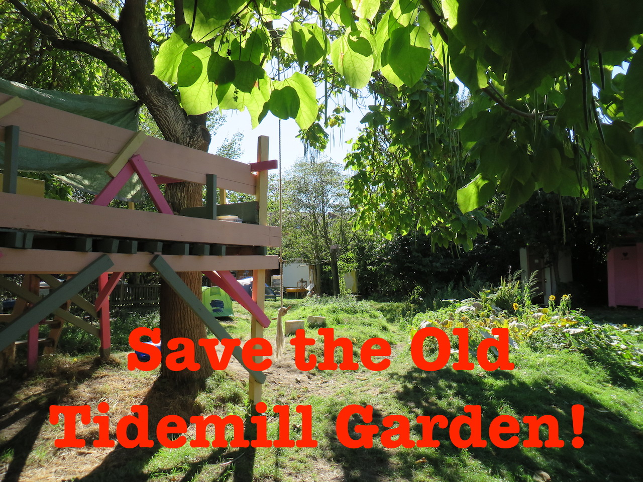 A photo of the Old Tidemill Wildlife Garden, which campaigners have occupied to prevent its destruction by Lewisham Council and Peabody, photographed on September 16, 2018 (Photo: Andy Worthington).