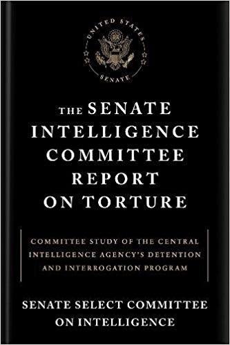 The cover of a version of the executive summary of the Senate torture report, made publicly available in December 2014.