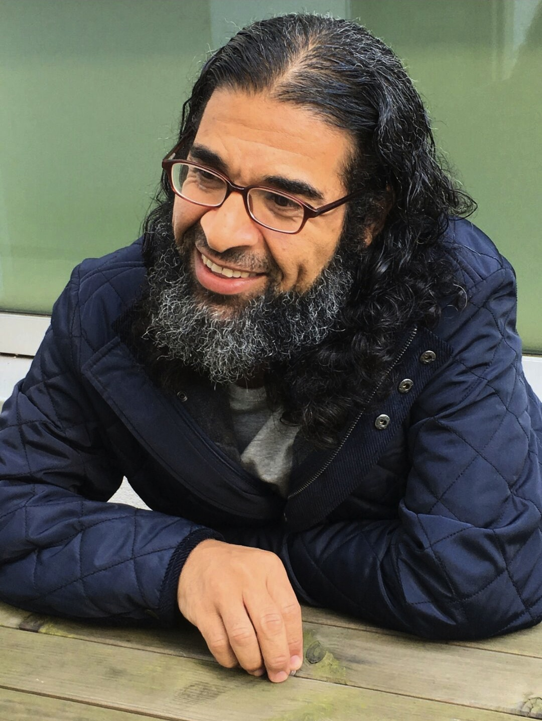 A photo that Shaker Aamer made available to the We Stand With Shaker campaign to thanks all his supporters who worked so hard to secure his release from Guantanamo.