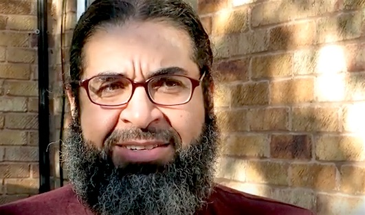 A screenshot of former Guantanamo prisoner Shaker Aamer urging President Obama to fulfill his promise to close Guantanamo, in a video recorded by Andy Worthington, the co-founder of Close Guantanamo, on October 11, 2016.
