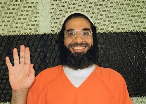 Shaker Aamer, photographed at Guantanamo in 2012.
