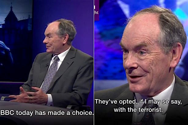 Screenshots of journalist Simon Jenkins criticising the BBC - and by extensions, the whole of the UK mainstream media - for its irresponsible and overblown response to the terrorist attack in central London on March 22.