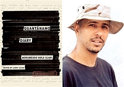 "Mohamedou Ould Slahi and the cover of ""Guantanamo Diary"""