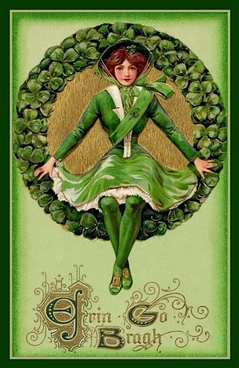A vintage postcard image for St. Patrick's Day.