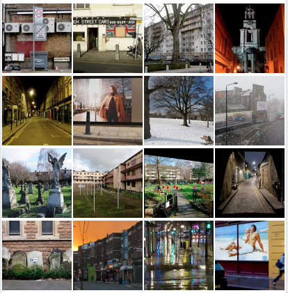 A composite photo showing the most recent photos in my photo project 'The State of London.' I began taking photos on daily bike rides around London in May 2012, and began posting a photo a day on Facebook in May 2017.